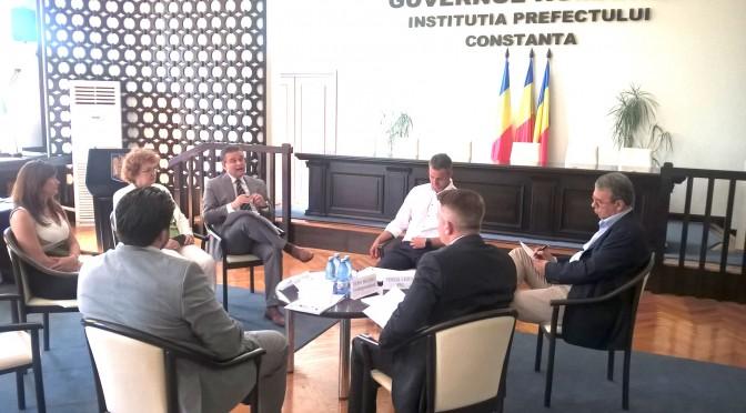 La Constanta 4 din 12 candidati la primarie au participat la masa rotunda dedicata colaborarii cu patronatele
