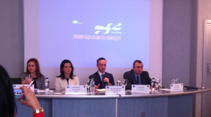 UNPR si Blue Air isi dau mana pentru a facilita afacerile firmelor din zona E-S-V ale Romaniei