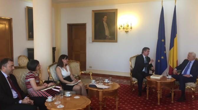 Internaționalizarea firmelor românești, a fost obiectivul întâlnirii delegației UNPR cu ministrul afacerilor externe, Teodor Meleșcanu