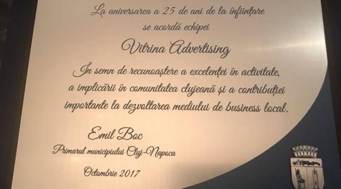 LA MULȚI ANI, Vitrina Advertising, cu ocazia aniversării celor 25 de ani de activitate!