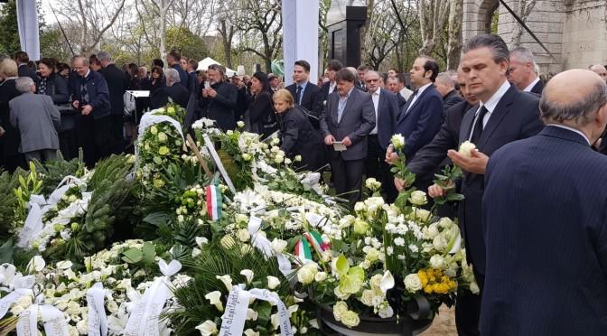 Preşedintele UNPR alături de premierul Orbán, la funeraliile presedintelui VOSZ, Demján Sándor