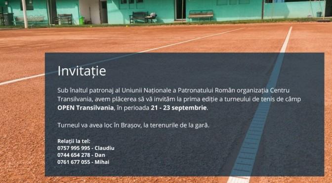 Prima ediție a turneului de tenis de câmp OPEN TRANSILVANIA