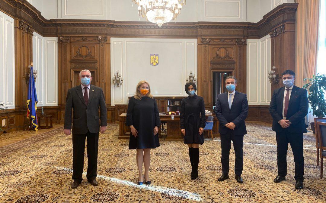 Delegația Uniunii Naționale a Patronatului Român(UNPR) a fost primită de către președintele Senatului României- doamna Anca Dragu