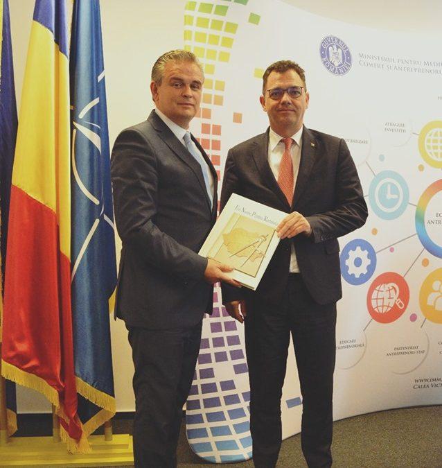 Consultări între ministrul Ştefan-Radu Oprea şi delegația Uniunii Naționale a Patronatului Român (UNPR)