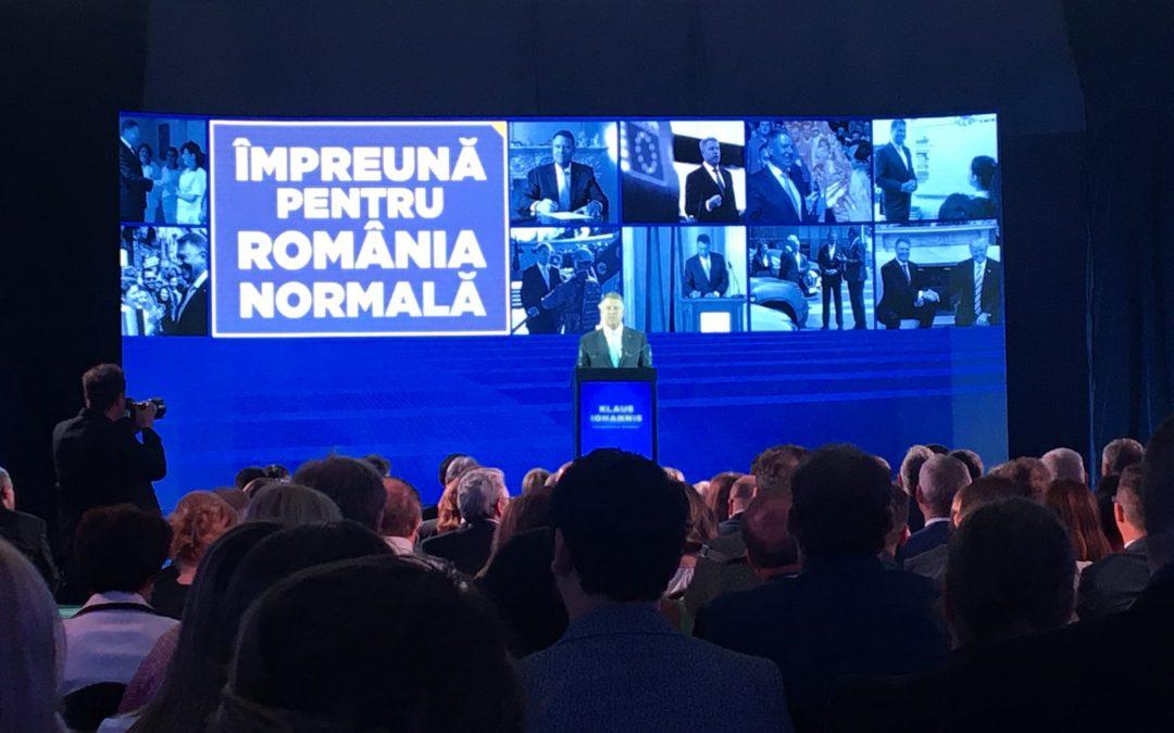 Vicepreședintele UNPR Marin-Viorel Dica,alături de Președintele României, domnul Klaus Iohannis.