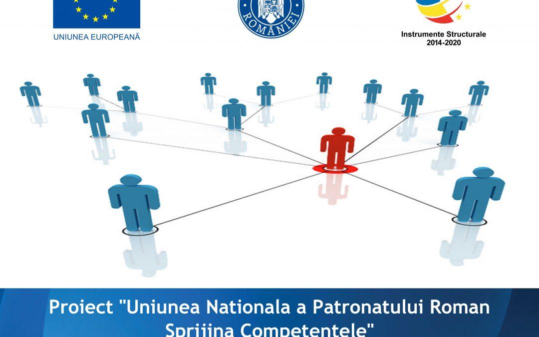 """INVITAȚIE  – Conferință inchidere proiect – """"Uniunea Naționalǎ a Patronatului Român Sprijinǎ Competențele"""""""